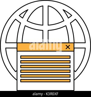 Isolated global website design - Stock Photo