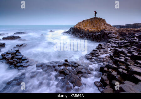 Man of the Giant's, Giant's Causeway, Northern Ireland, County Antrim. - Stock Photo