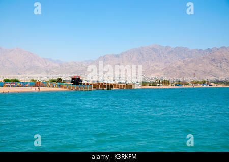 Aqaba coast, Jordan - Stock Photo
