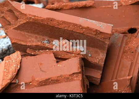 constructions waste consists of unwanted material produced dirctly or incidentally by the construction of industries, - Stock Photo