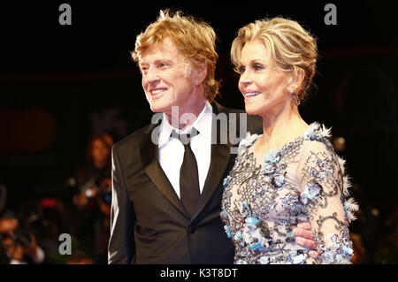Venice, Italy. 01st Sep, 2017. Robert Redford and Jane Fonda attending the 'Our Souls at Night' premiere at the - Stock Photo