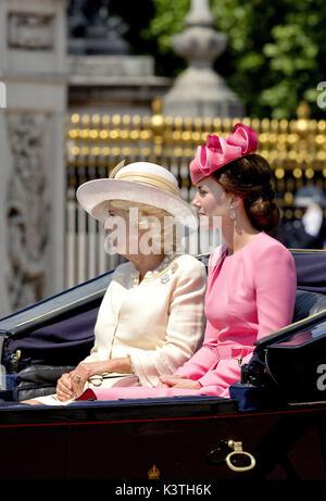 London, United Kingdom Of Great Britain And Northern Ireland. 17th June, 2017. Princess Kate and Camilla, Duchess - Stock Photo