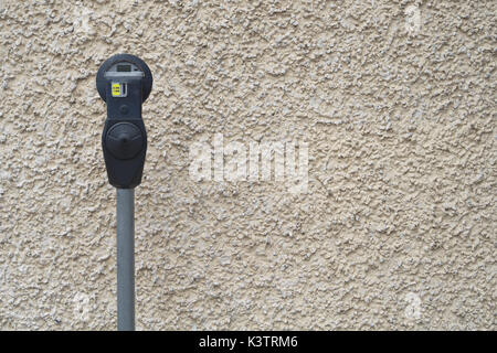 parking fee meter paying lot vintage timer regulation - Stock Photo