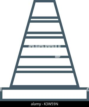 line construction cone to industrial service repair - Stock Photo