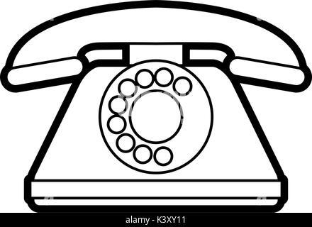 Isolated retro phone design - Stock Photo