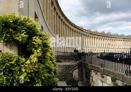 18th Century Georgian Architecture of The Royal Crescent, City of Bath, Somerset, England, UK. A UNESCO World Heritage Site.