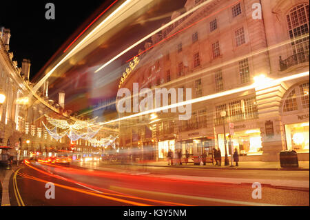 London Piccadilly Circus at Night - Stock Photo