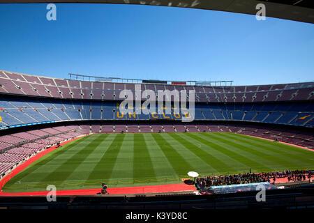 FC Barcelona Camp Nou tour and Museum experience Mes que un club - Stock Photo