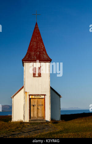 Picturesque church in Hellnar, Iceland. - Stock Photo