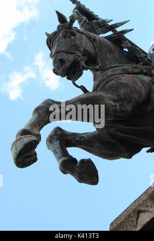 Statue of William the Conqueror in Falaise (France). - Stock Photo