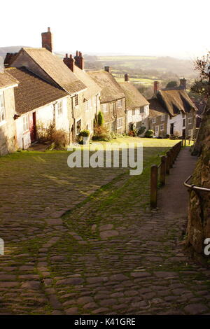 Golden Hill, Shaftbury - Stock Photo