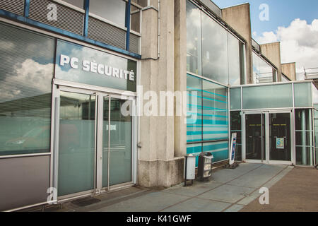 NANTES, FRANCE - April 27, 2017 : entrance of the security office of the international airport of Nantes, France - Stock Photo