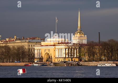 Admiralty building in Saint Petersburg, Russia - Stock Photo