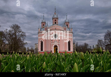 Chesme Church in Saint-Petersburg, Russia - Stock Photo