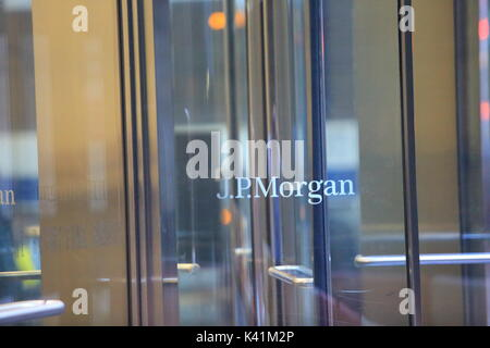 jp morgan headquarter office in new york - Stock Photo