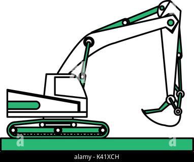 Isolated excavator design - Stock Photo