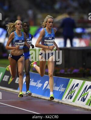 Eilish McColgan in 5000m action during IAAF Diamond League at King Baudouin Stadium Brussels Belgium on September - Stock Photo