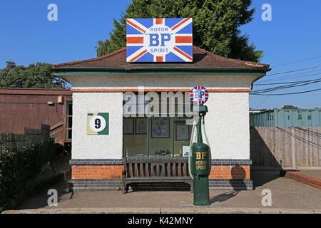 BP Petrol Pagoda, Brooklands Museum, Weybridge, Surrey, England, Great Britain, United Kingdom, UK, Europe - Stock Photo