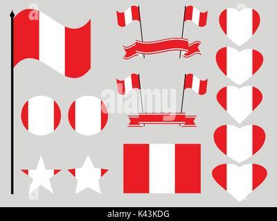 National Symbols And Flag Of Peru Stock Photo 39724072 Alamy