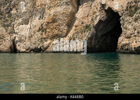 Inland Sea at Dwejra bay, near the collapsed Azure window. Gozo, Malta - Stock Photo