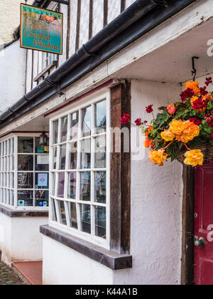 The Crooked Window, an art gallery in Dunster near Minehead, Somerset. - Stock Photo