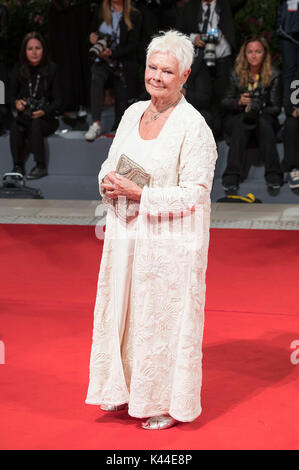 Venice, Italy. 03rd Sep, 2017. Judi Dench attending the 'Victoria & Abdul' premiere at the 74th Venice International - Stock Photo