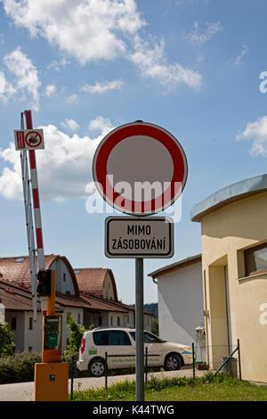 Lipno nad Vitavou, Czechoslovakia. - Stock Photo