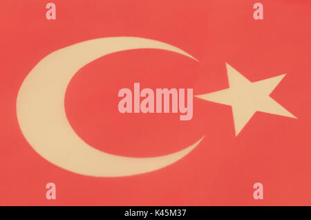 Abstract image of a fragment of the flag of Turkey. - Stock Photo