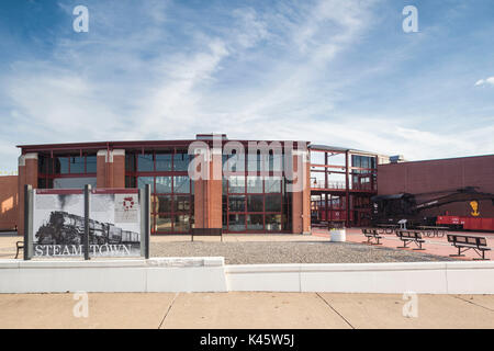 USA, Pennsylvania, Scranton,  Steamtown National Historic Site, museum exterior - Stock Photo