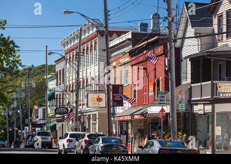 USA, New York, Hudson Valley, West Point, Main Street - Stock Photo