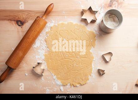 Baking cookies, Still life Christmas - Stock Photo