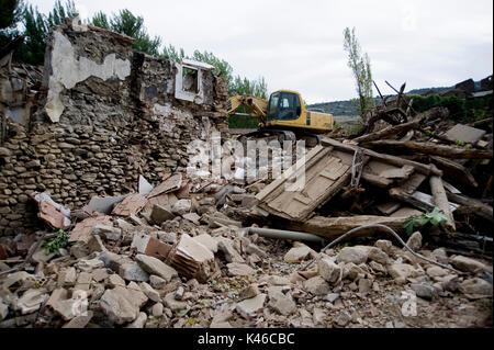 Las Ruedas De Enciso Village Under Demolition Before Enciso Dam Is