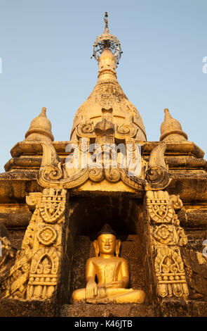 Buddhist stupa, Mrauk-U, Myanmar - Stock Photo