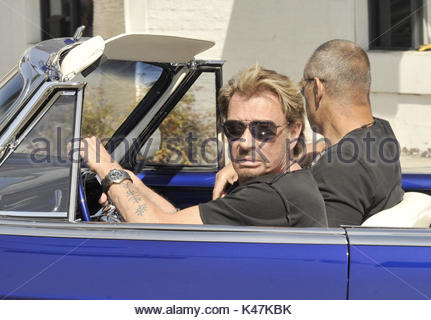 Hot Rod Johnny Hallyday >> Johnny Hallyday. Johnny Hallyday looking very 50's Rock and Roll Stock Photo, Royalty Free Image ...