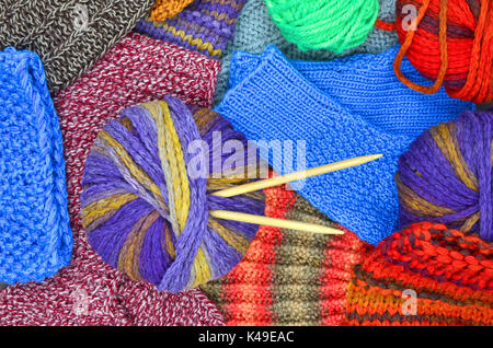 knit and wool - Stock Photo