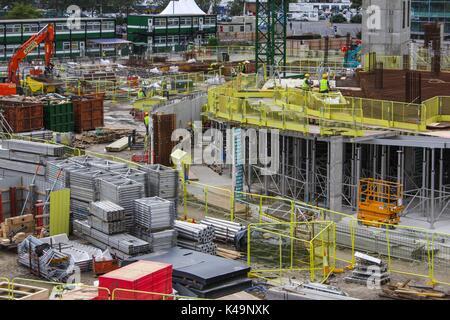 Construction of the Watermark Showcase Cinema in Southampton - Stock Photo