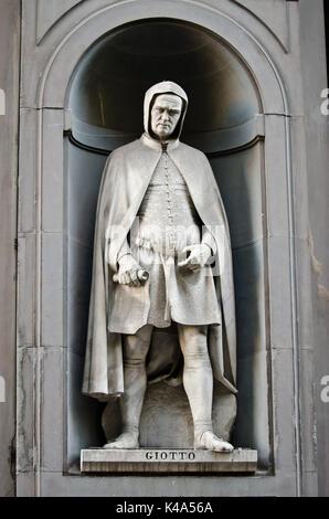 Giotto statue - Stock Photo