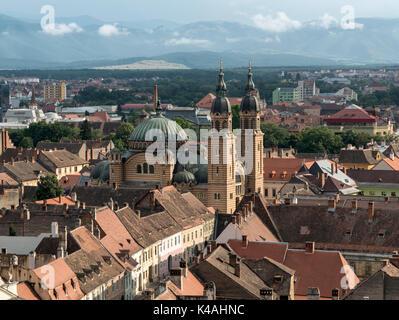 Orthodox Holy Trinity Cathedral, Sibiu, Romania - Stock Photo