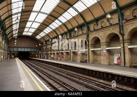 Notting Hill Gate Underground station in London - Stock Photo