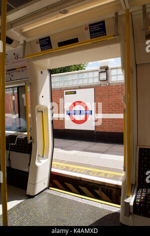 Ladbroke Grove Underground station in London - Stock Photo