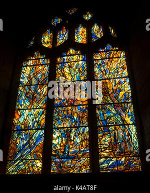 The Millennium west window by Tom Denny, St. Peter`s Church, Martley, Worcestershire, England, UK - Stock Photo