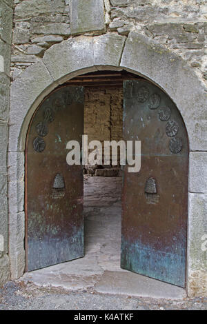 The City Gate In Hum With Its Glagolitic Inscription Is The Last Stop Of The Famous Glagolitic Alley - Stock Photo