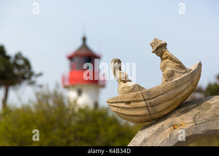 Wooden Sculpture On Hiddensee - Stock Photo