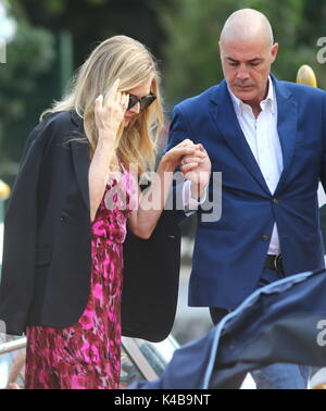 Venice, Italy. 5th Sep, 2017. Actress Michelle Pfeiffer is seen during the 74th Venice International Film Festival - Stock Photo