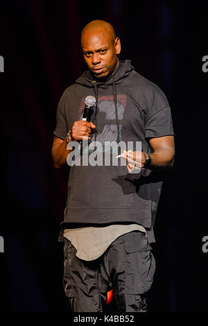 Las Vegas, NV, USA. 4th Sep, 2017. ***HOUSE COVERAGE*** Dave Chappelle performs at Kevin Hart HartBeat Weekend at - Stock Photo
