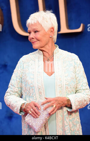 London, UK. 05th Sep, 2017. Judi Dench attending the UK Premiere of VICTORIA &  ABDUL  at the Odeon Leicester Square - Stock Photo