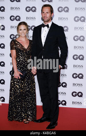 London, UK. 05th Sep, 2017. Georgie Thompson, Sir Ben Ainslie at GQ Men of The Year Awards 2017  on Tuesday 5 September - Stock Photo