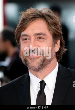 Venice, Italy. 05th Sep, 2017. Actor Javier Bardem attends the premiere of the movie 'Mother!' during the 74th Venice - Stock Photo