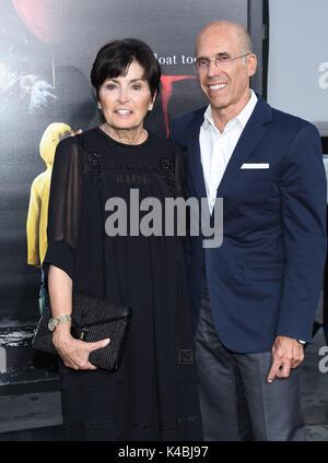 Hollywood, California, USA. 5th Sep, 2017. Jeffrey Katzenberg and Marilyn Katzenberg arrives for the premiere of - Stock Photo