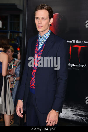 Los Angeles, USA. 05th Sep, 2017. Bill Skarsgard 042 arriving at the IT You'll Float Too Premiere at the TCL Chinese - Stock Photo